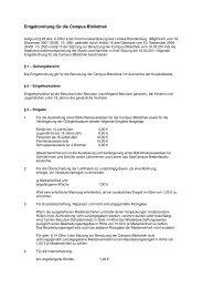 Entgeltordnung für die Campus-Bibliothek -  Stadt Lauchhammer