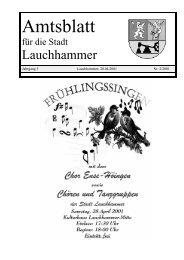 Amtsblatt 02/2001 - Stadt Lauchhammer