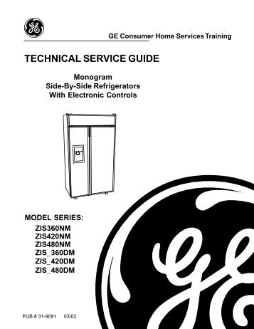 technical service guide ge consumer home services rh yumpu com ge technical service guide refrigerators ge technical service guide refrigerators
