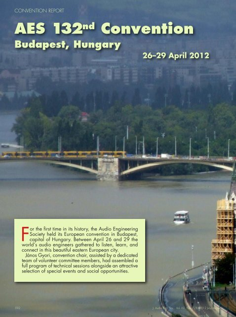 132nd Convention, Budapest, Hungary - Audio Engineering Society
