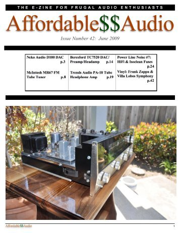 June 2009 - Affordable$$Audio