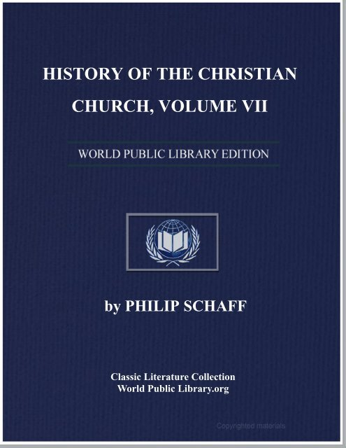 History Of The Christian Church Volume Vii World Ebook