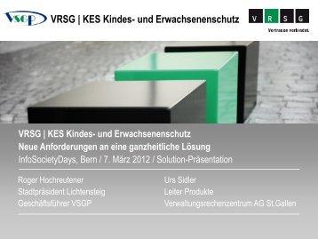 VRSG | KES Kindes- und Erwachsenenschutz - infosocietydays 2013