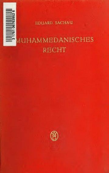 Standardwerk über das islamische Recht - Mittelstand PRO NRW