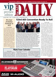 vip the AES DAILY preview edition - Audio Engineering Society