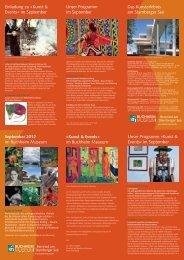 PDF-Flyer des Programms - Buchheim Museum der Phantasie