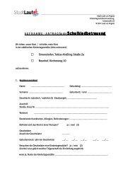 Anmeldeformular Schulkindbetreuung mit Buchungsblatt