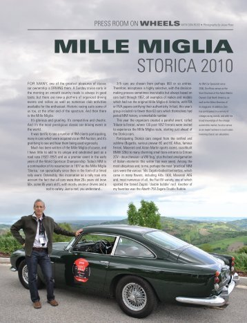 WITH DON ROSe • Mille MigliA SToRica 2010 - RM Auctions