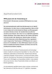 Applikationsbericht - Leuze electronic