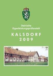 K A L S D O R F 2 0 0 9 - LFS Hatzendorf