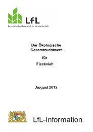 Der Ökologische Gesamtzuchtwert für Fleckvieh - Bayerische ...
