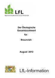 Der ökologische Gesamtzuchtwert für Braunvieh - Bayerische ...