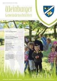 Herbst 2012 - Gemeinde Weinburg