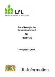 Der Ökologische Gesamtzuchtwert Fleckvieh - Bayerische ...