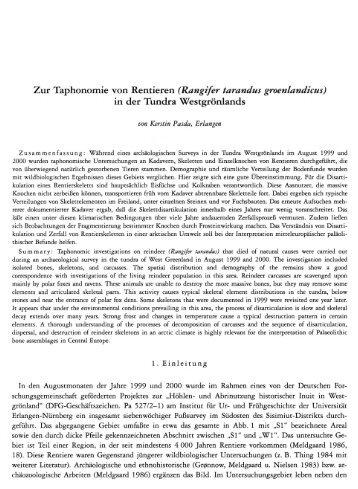 Zur Taphonomie von Rentieren (Rangifer tarandus ... - quartaer.eu