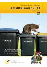 Abfallkalender 2013 - Hartmannsdorf