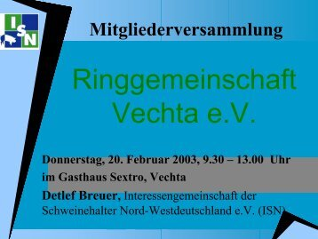Ringgemeinschaftvechta - Schweine.net