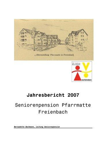 Jahresbericht 2007 - Gemeinde Freienbach