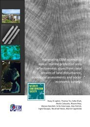 Integrating EBM science to assess marine protected area ... - WCS Fiji