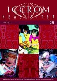 ICCROM - Newsletter 29