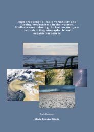 High-frequency climate variability and forcing mechanisms in the ...