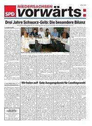 Ausgabe April 2006 des Niedersachsen-vorwärts als pdf
