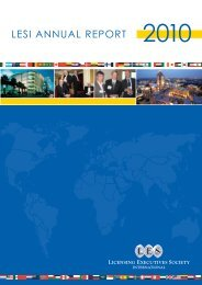 2010 Annual Report - Licensing Executives Society International