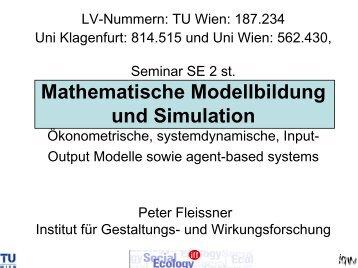 Prof Peter Fleissner Grundlagen wissenschaftlichen Arbeitens LV ...