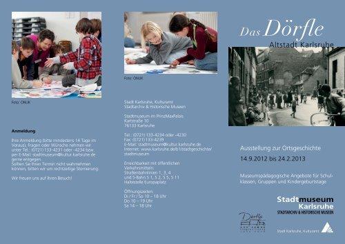 Flyer Museumspädagogische Angebote (PDF, 356 KB) - Karlsruhe