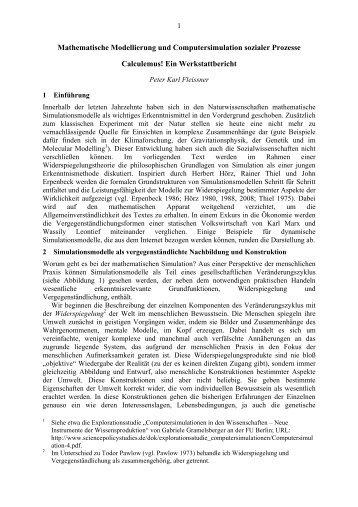 Mathematische Modellierung und Computersimulation sozialer ...