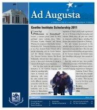 Ad Augusta March 2011 - Takapuna Grammar School