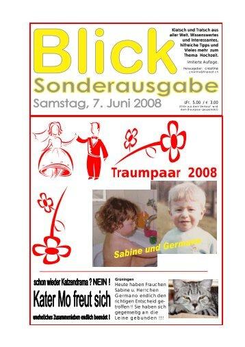 Blick Sonderausgabe 7. Juni 2008 - hochzeitsseiten von sabine und ...