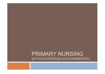Primary Nursing im psychiatrischen Aufnahmebereich - C. Allgeyer