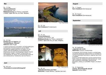 Fotokreis-Flyer mit Programm Mai bis September 2011