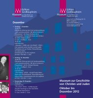 Museum zur Geschichte von Christen und Juden ... - Laupheim