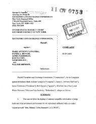 SEC Complaint: Mark Anthony Longoria, Daniel L. DeVore, James ...