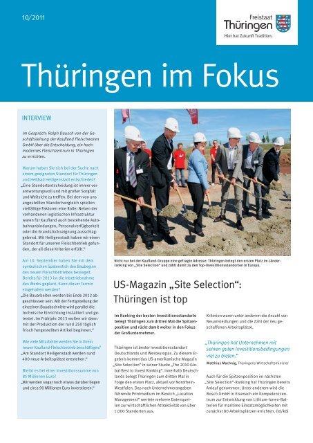 Thüringen im Fokus - Landesentwicklungsgesellschaft Thüringen mbH