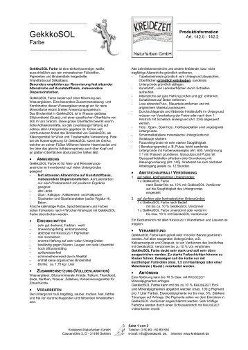 GekkkoSOL Farbe   Kreidezeit Naturfarben GmbH