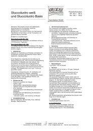 Stuccolustro - Kreidezeit Naturfarben GmbH