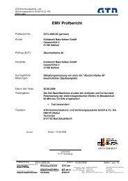 Prüfbericht - Kreidezeit Naturfarben GmbH