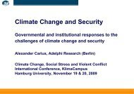 Climate Change and Security Threats, Opportunities and ...