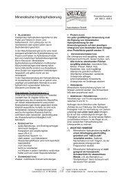 Mineralische Hydrophobierung - Kreidezeit Naturfarben GmbH
