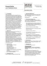 Kaseinfarbe zum Selbstanrühren -  Kreidezeit Naturfarben GmbH