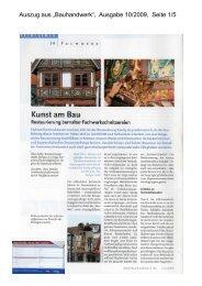 """Auszug aus """"Bauhandwerk"""", Ausgabe 10/2009, Seite 1/5"""