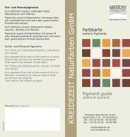 Farbkarte KREIDEZEIT weitere Pigmente - Kreidezeit Naturfarben ...