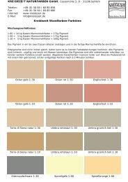 Kreidezeit Wandfarben-Farbtöne