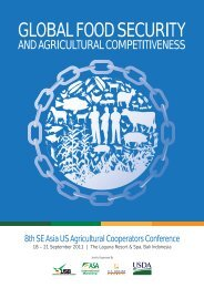 GLOBAL FOOD SECURITY - 9th se asia us agricultural cooperators ...