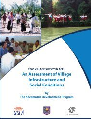 2006 village survey in Aceh - Internal Displacement Monitoring Centre