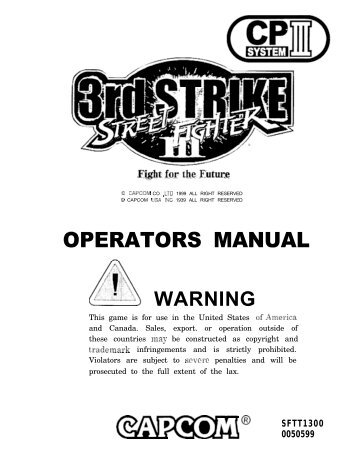 Street Fighter 3rd Strike Manual.1823.pdf - The Shaffer Distributing ...