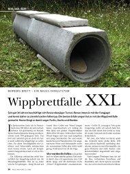 Wippbrettfalle XXL - Wild und Hund